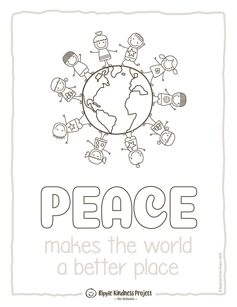 PEACE DAY Coloring Pages, Friendship Bulletin Board