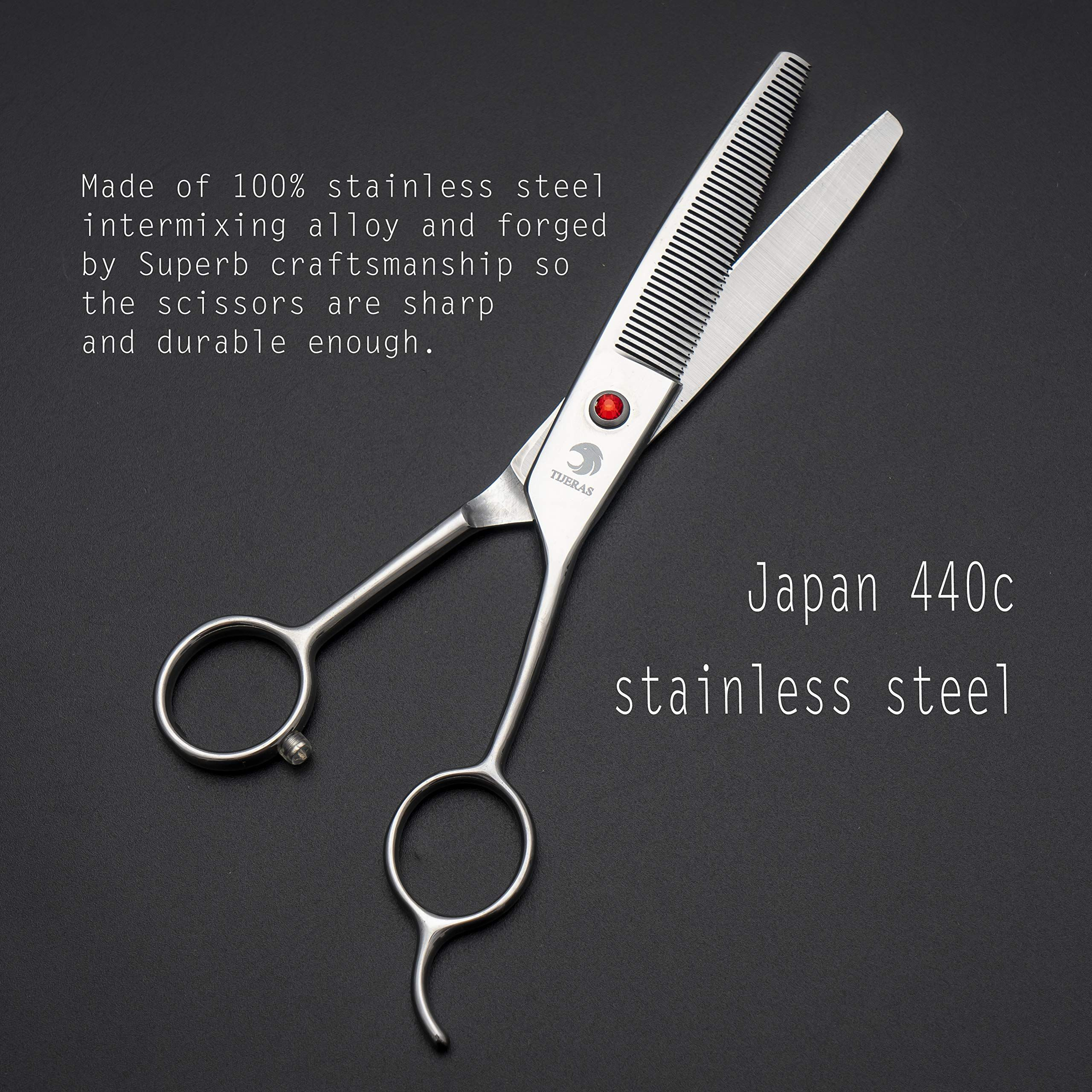 Tijeras 6 5handed Professional Japanese 440c Pet Dog Cat Grooming