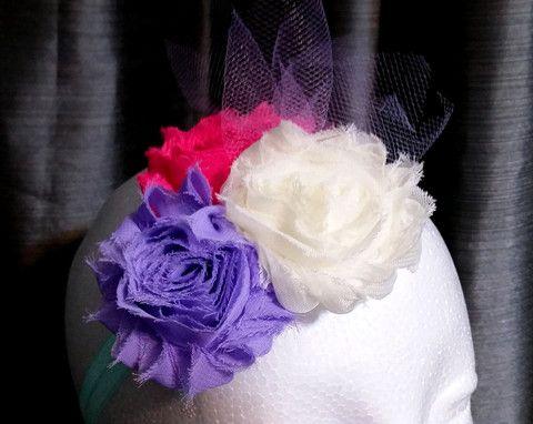 Floral Headband, Infant Headband, Custom Flower Headbands