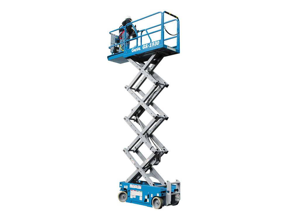 Genie Gs 1930 Electric Scissor Lift Electric Scissors Scissor Lift Electricity
