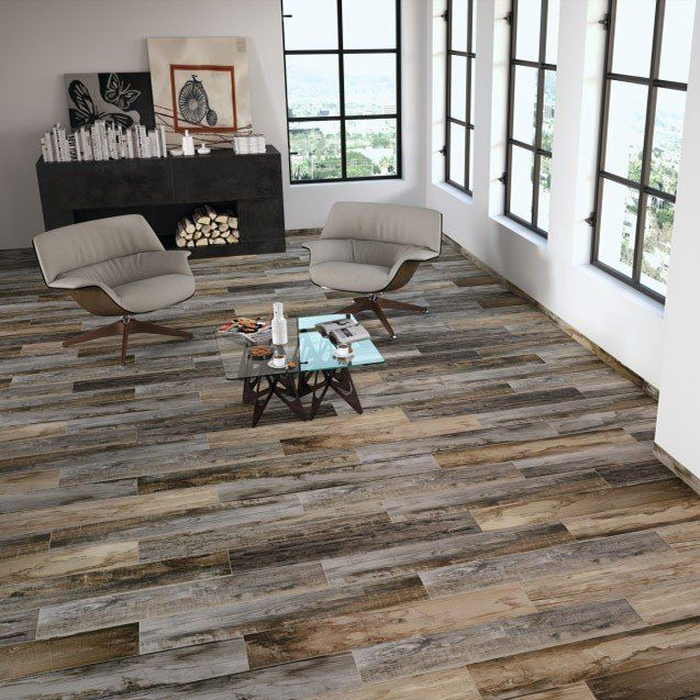 Stunning Distressed Wood Effect Porcelain Floor Tile Authentic Colour And Texture Variation Click To View Barnwood Floors Flooring Best Flooring