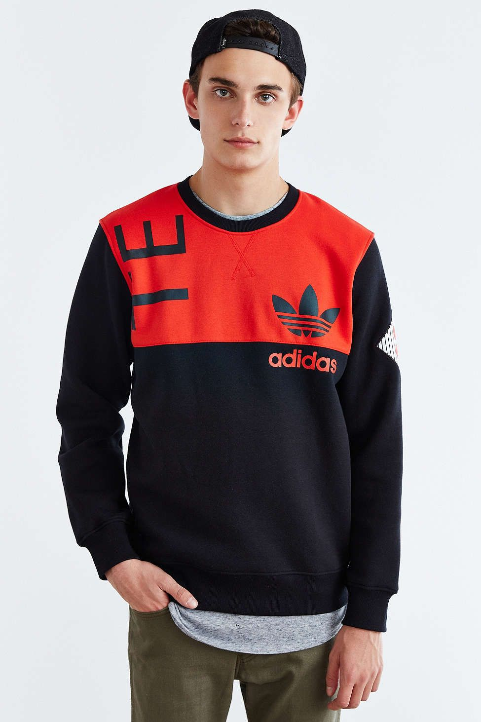 Adidas Originals equipo ART Fleece crew neck sweatshirt ropa I