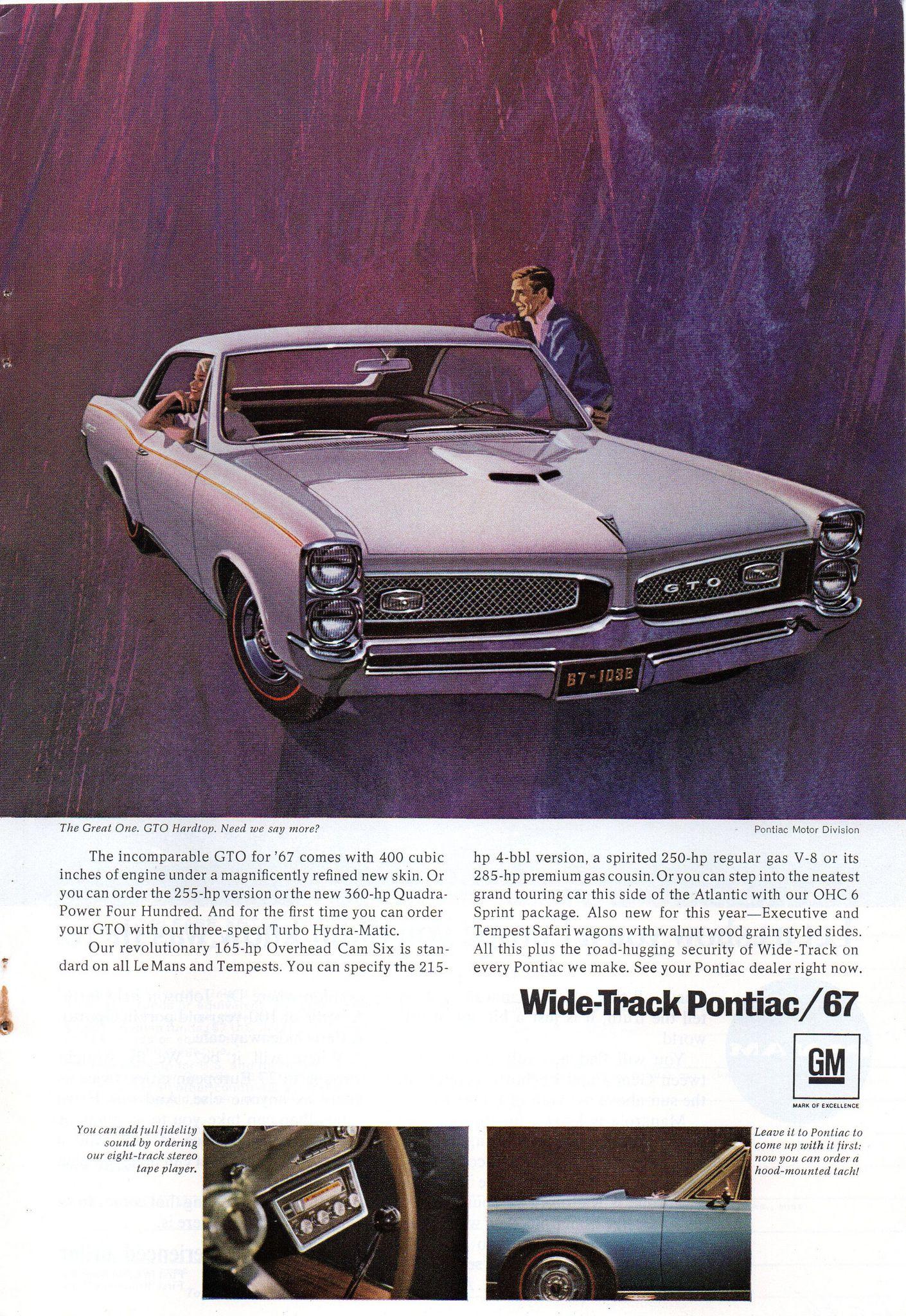 1967 Pontiac Bonneville & GTO Page 2 USA Original Magazine