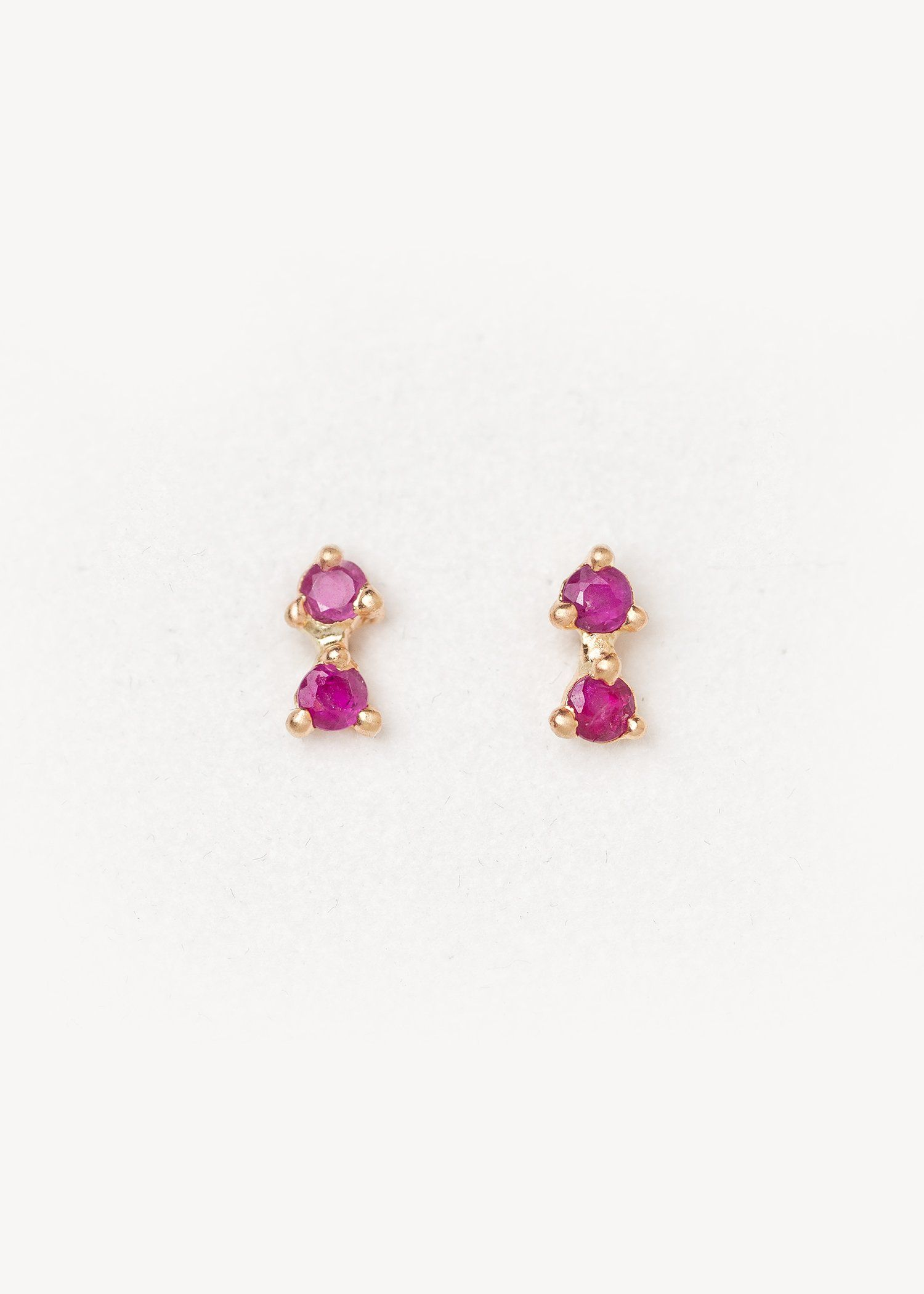 b0444ff17 Elara Ruby Earrings - Valley Rose Studio. This gorgeous simple and elegant  bar climber constellation inspired earring has two glowing 2mm gem cut ...
