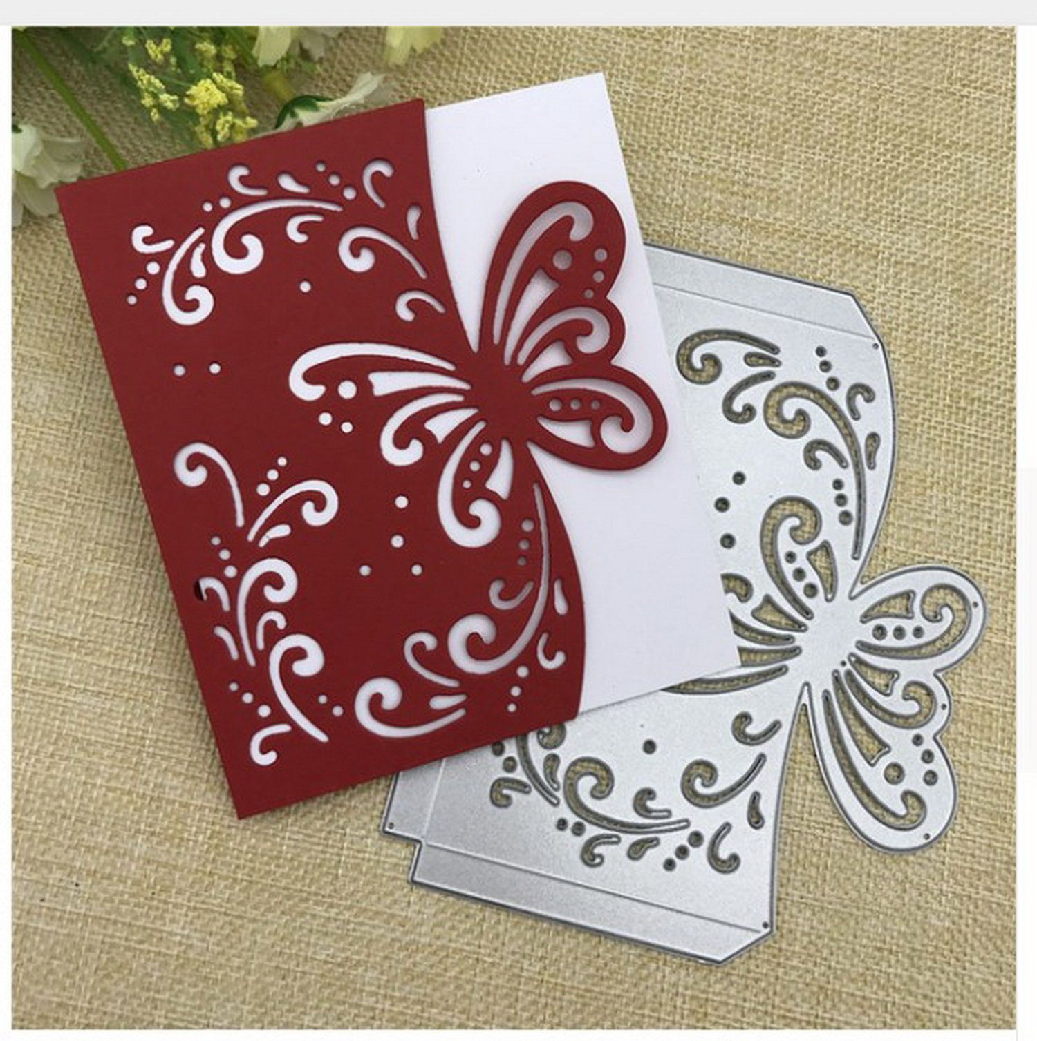 Two Sides Metal Butterfly Cutting Dies Stencils for DIY Scrapbooking Paper Cards