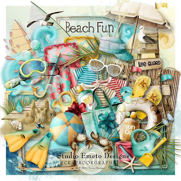 Beach Fun By Emeto Designs Scrapbookgraphics Art Pinterest
