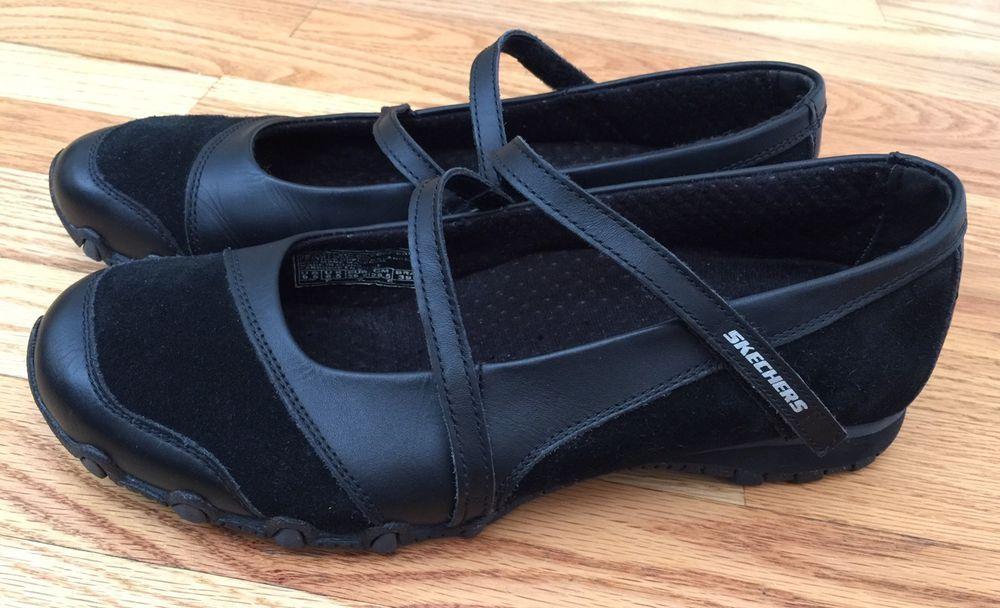 9279a43efa0c Skechers SZ 9.5 M Womens Biker Shoes Sneakers Step Up 21571 Black Leather  Suede