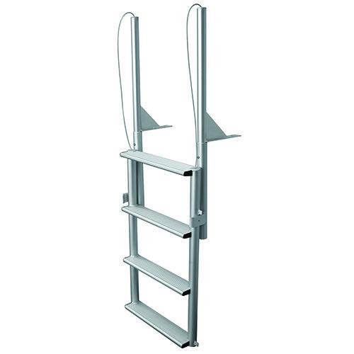 Jif 4 Wide 4 Step Aluminum Dock Lift Ladder Efl4 W Ladder Floating Dock Jif