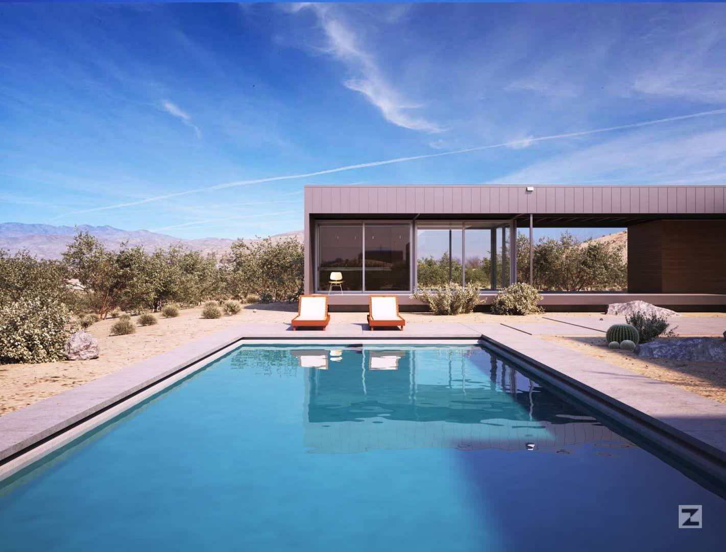 Desert House By Juan K Torres Cadservices 3d Archviz Architectural Visualization Wo Desert Homes 3d Architectural Visualization Prefabricated Architecture
