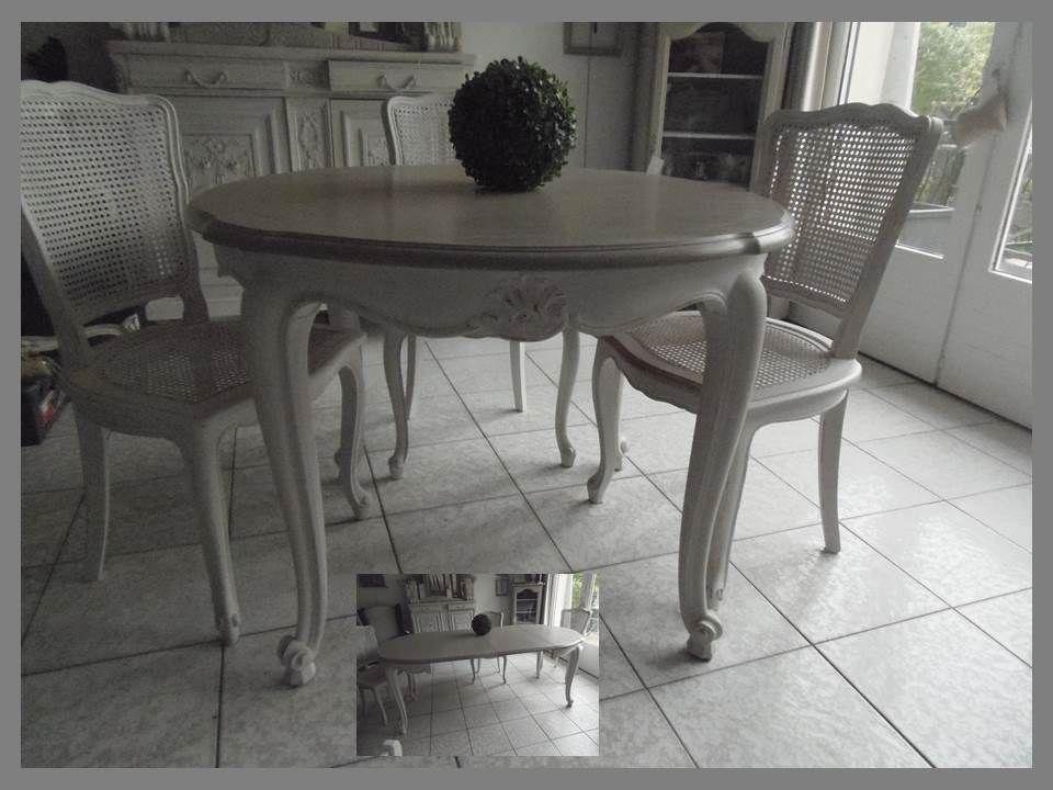 Un nouveau look pour cette table en merisier par l 39 atelierdes4saisons esprit brocante boutique - Table pour brocante ...