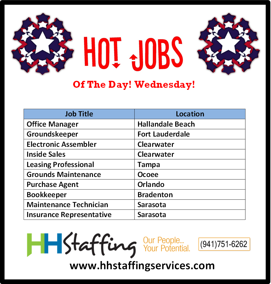 Hi Jobseekers Who S Ready For Their Hump Day Hot Jobs We Have