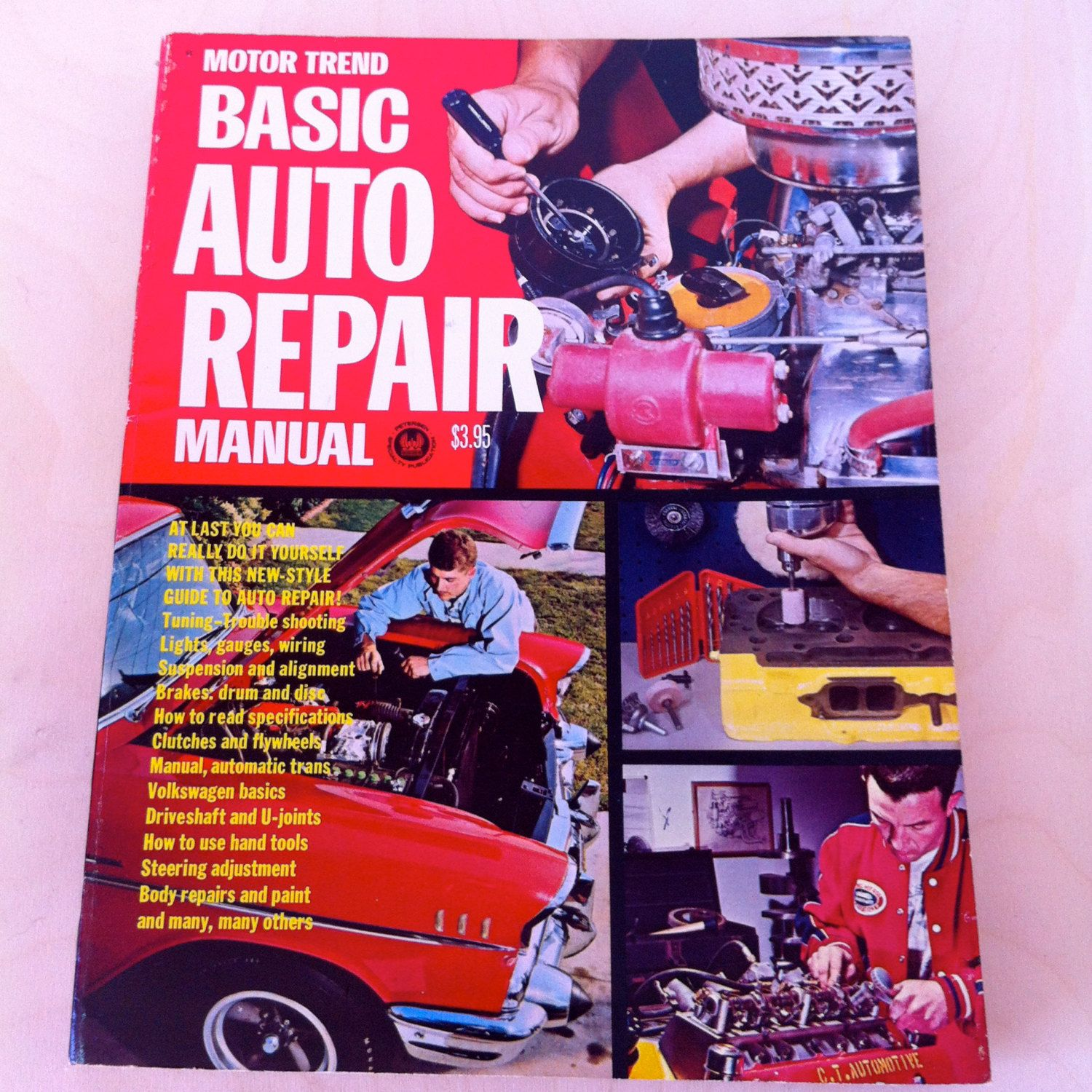 Motor Trend Basic Auto Repair Manual 1968 Petersen Publishing Automotive Wiring Books Vintage Book Car Trouble Shooting Tune Up By Vintagebaron On Etsy