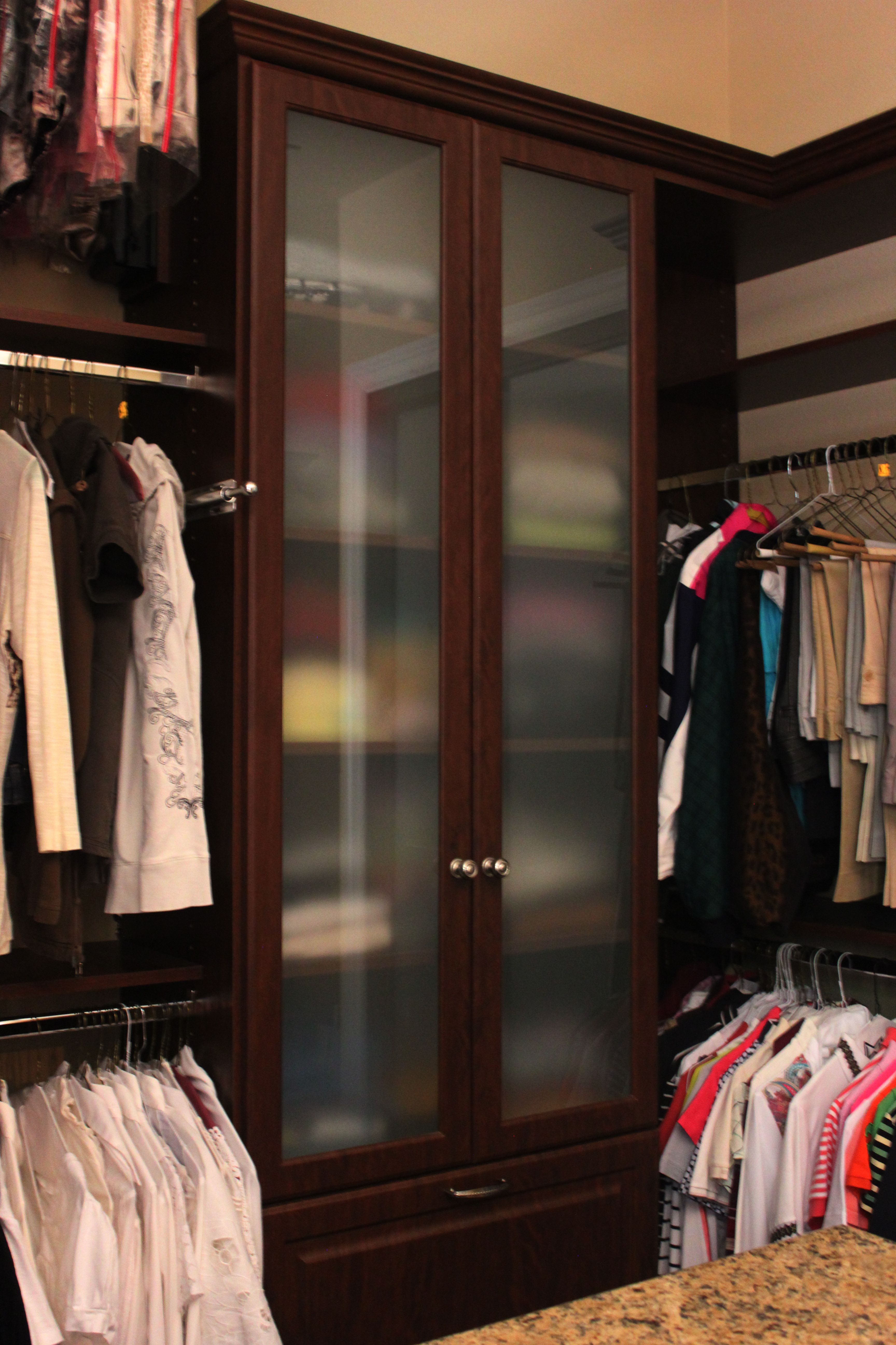 Frosted Gl Fronts Affordable Custom Closet Es