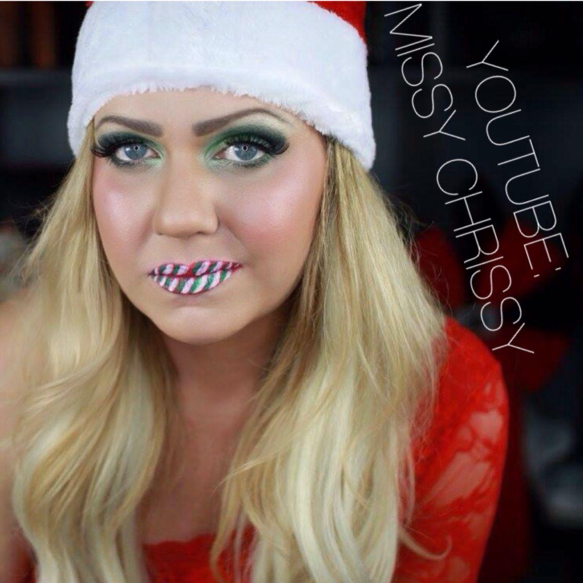 Christmas Makeup : Candycane Lips