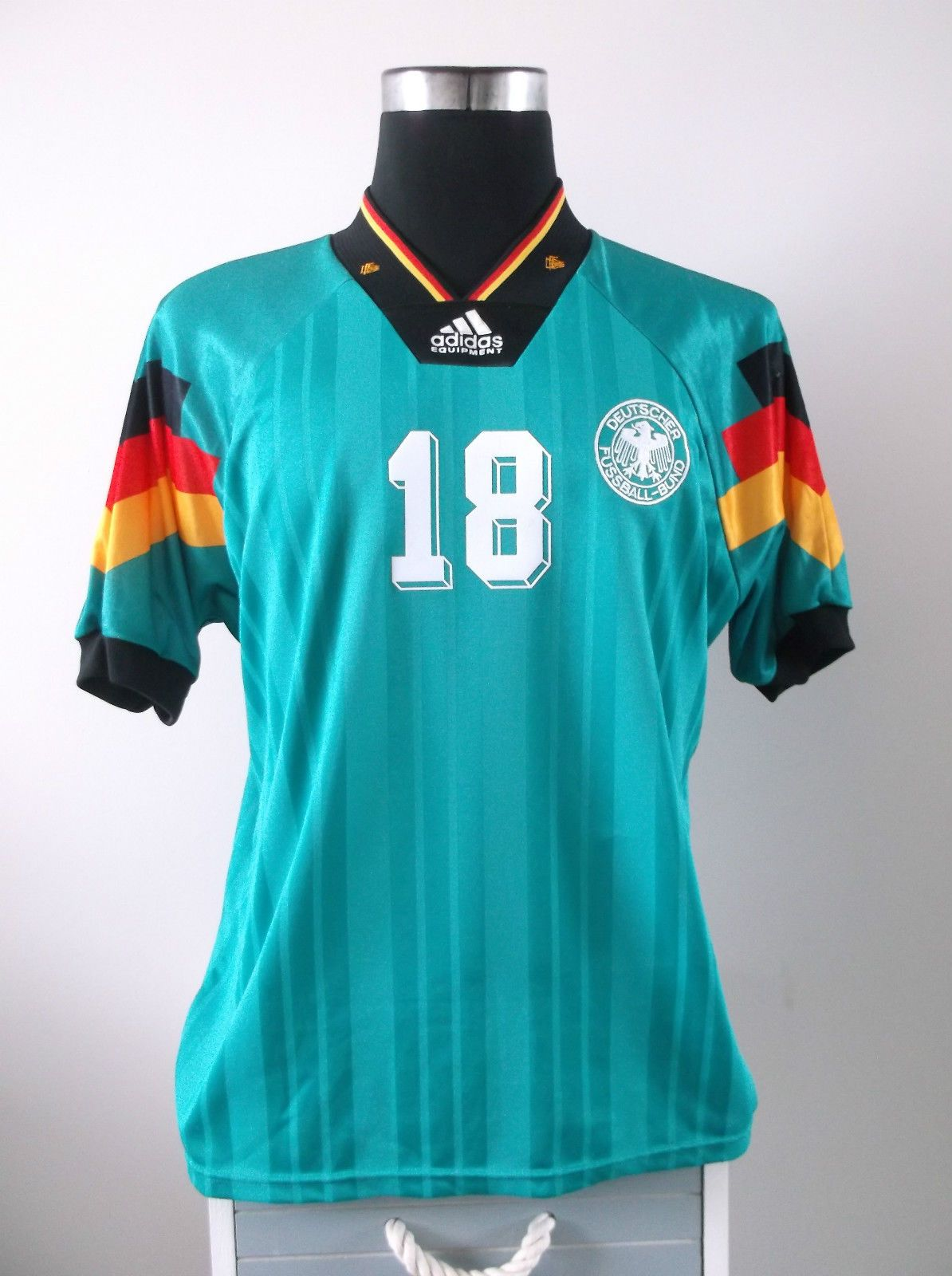 Jurgen KLINSMANN #18 Germany Away Football Jersey 1992-1994