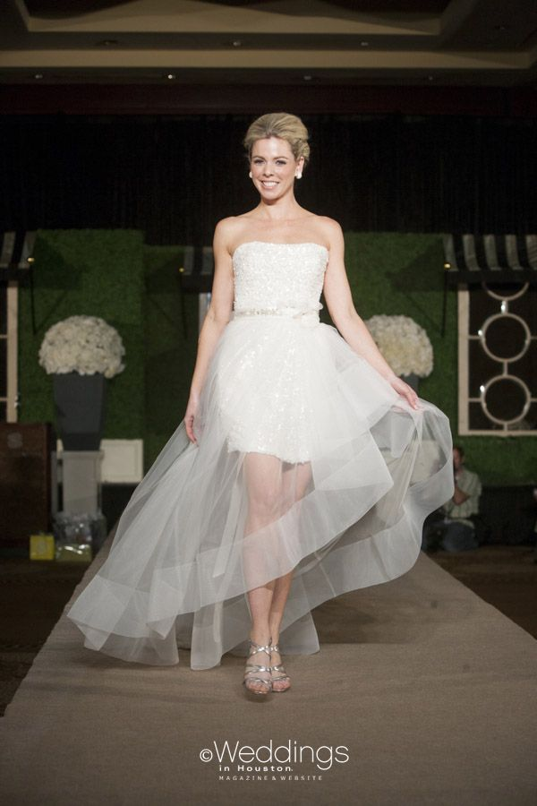 8af2575acf6 Strapless Short and Sheer Overlay Wedding Dress from Ivory Bridal Atelier