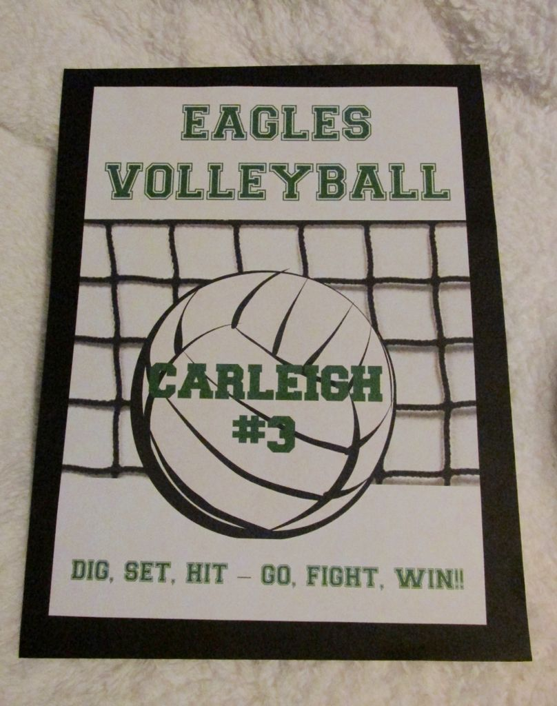 One Of The Volleyball Locker Decorations I That Made For My Daughter S Team Last Fall Volleyball Locker Volleyball Locker Decorations Volleyball Decorations