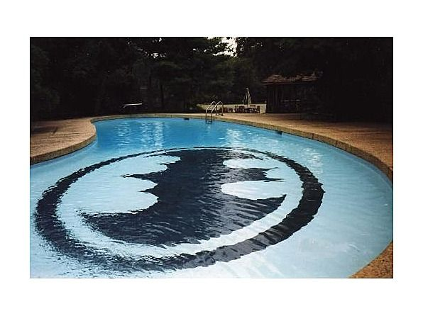 To indulge my son's love of all things superhero...the batman pool