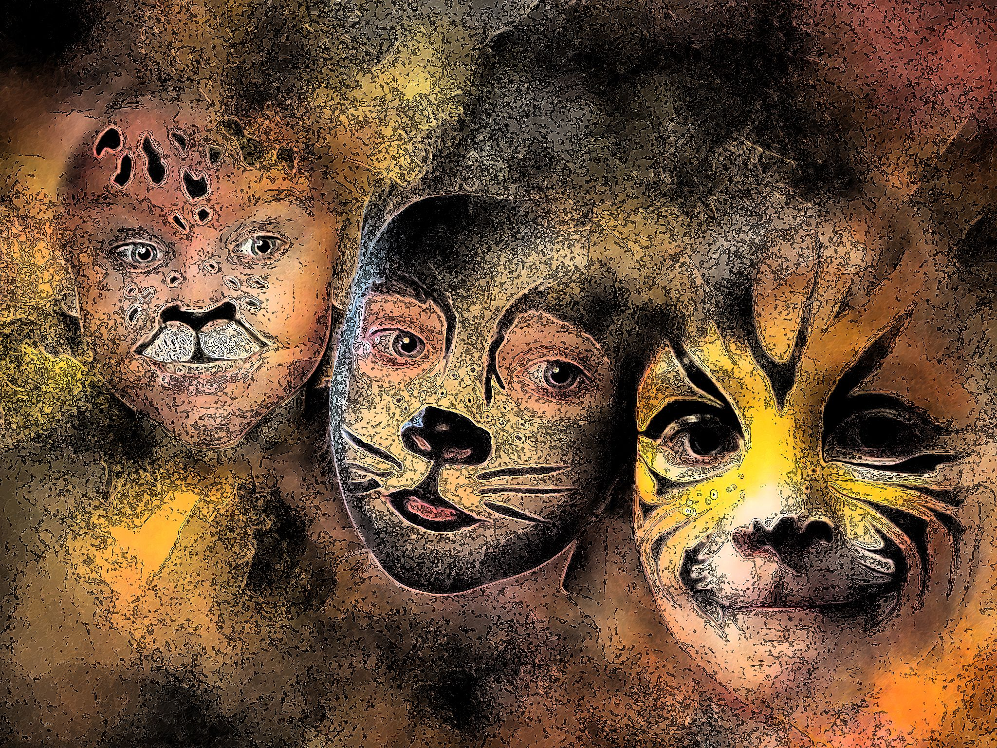 Face Painting - Ink Lines