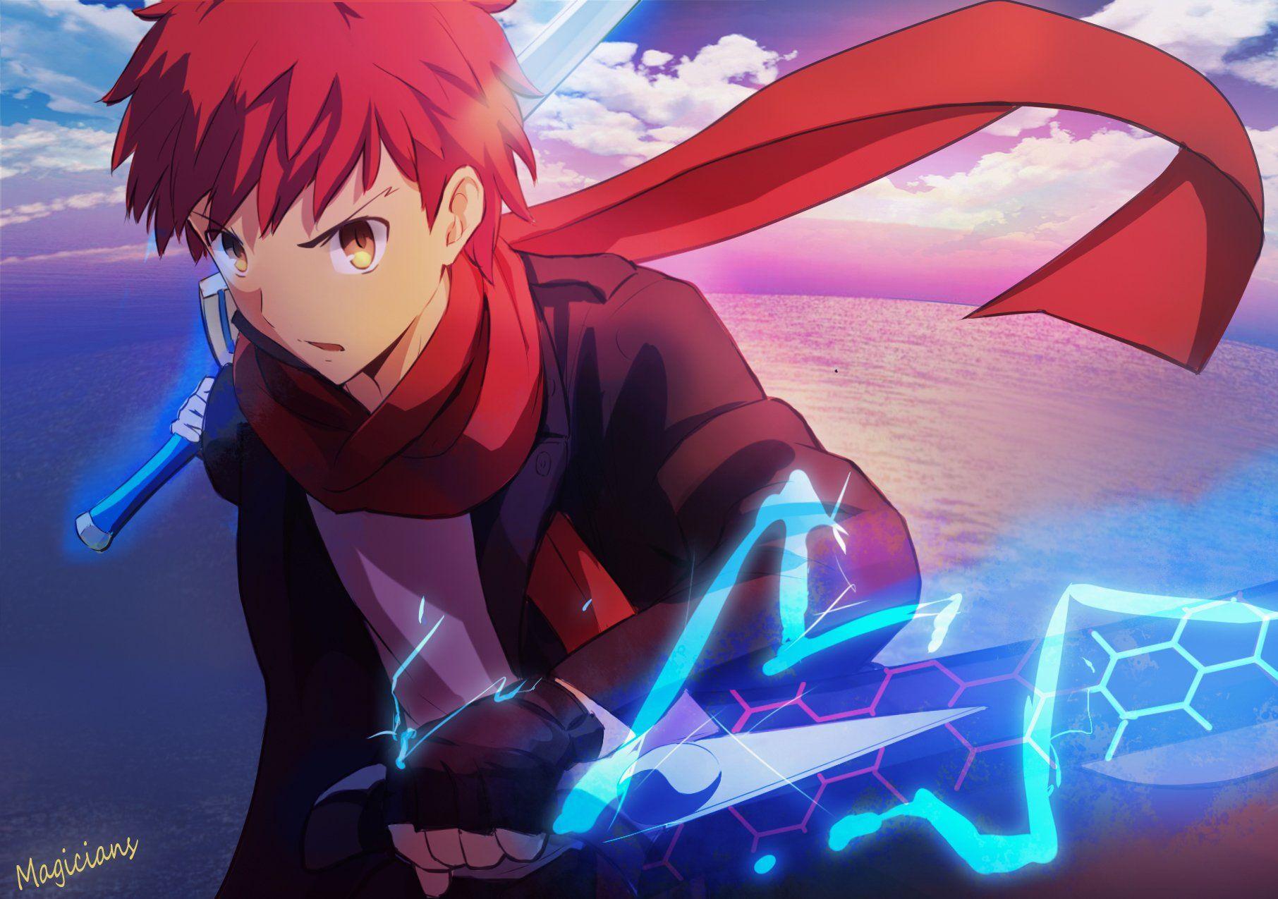shiro emiya red Shirou emiya, Fate stay night, Anime