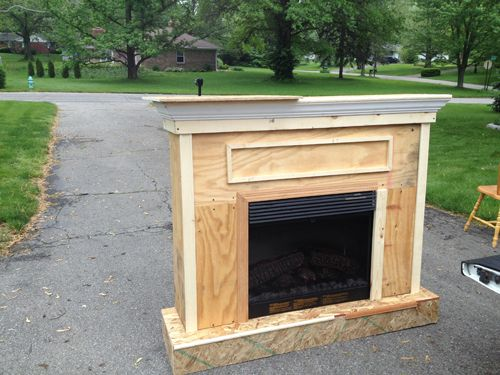 Building a Custom Electric Fireplace Surround | Stuff I want to ...
