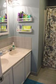 our life in a click: {Get Organized} Spice Rack Bathroom Storage