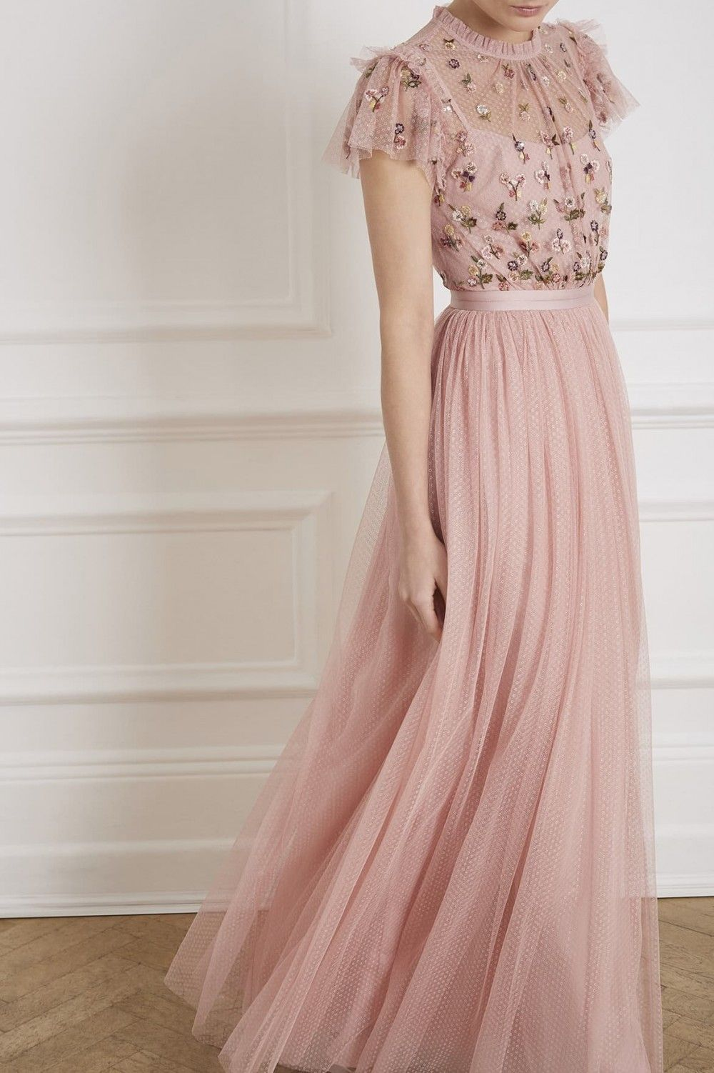 b8e7d480242 Rococo Bodice Gown in Rose Pink from the Needle & Thread PS19 ...