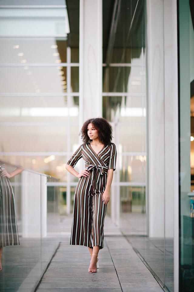 3fd693f5021 This striped jumpsuit is a perfect transition piece from the workplace to  happy hour. It s