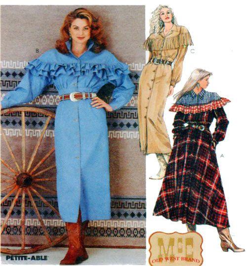 McCalls 7237 Western Wear Vintage Sewing Pattern | Western wear ...