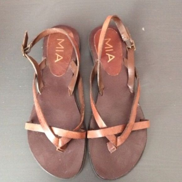 5a7d9071b Mia sandals Made in Brazil, leather upper. worn a couple times MIA Shoes  Sandals