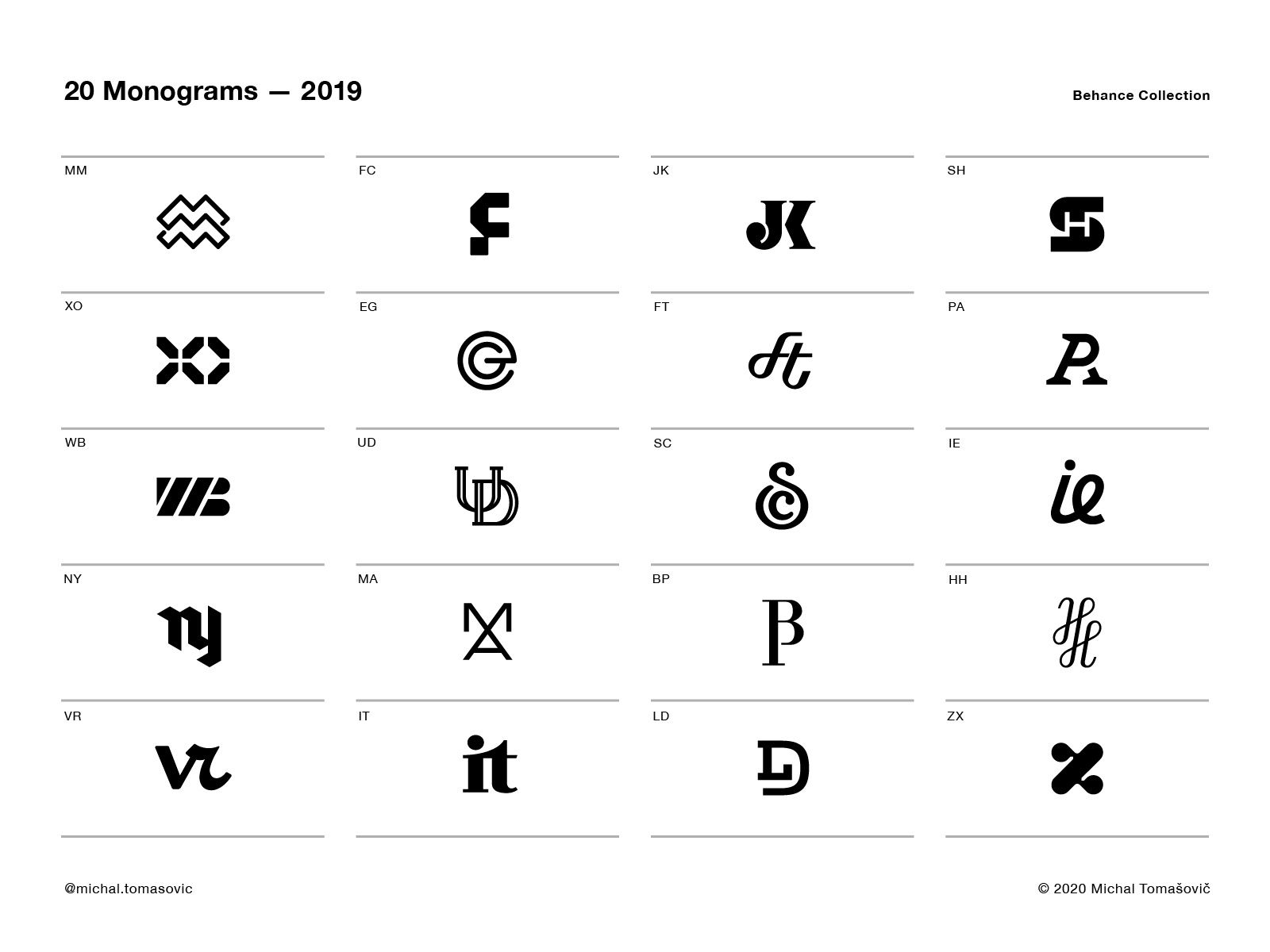 20 Monograms In