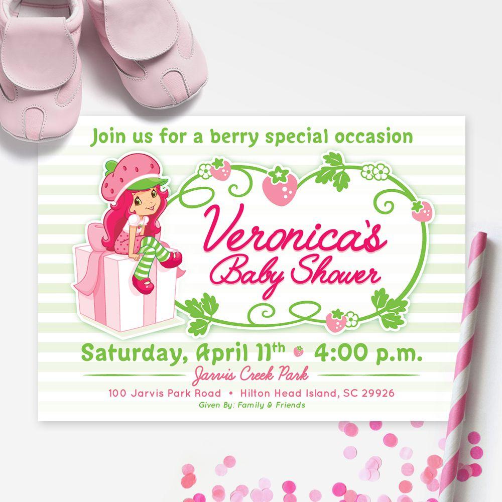 STRAWBERRY SHORTCAKE Baby Shower Invitation, Strawberry Shortcake ...