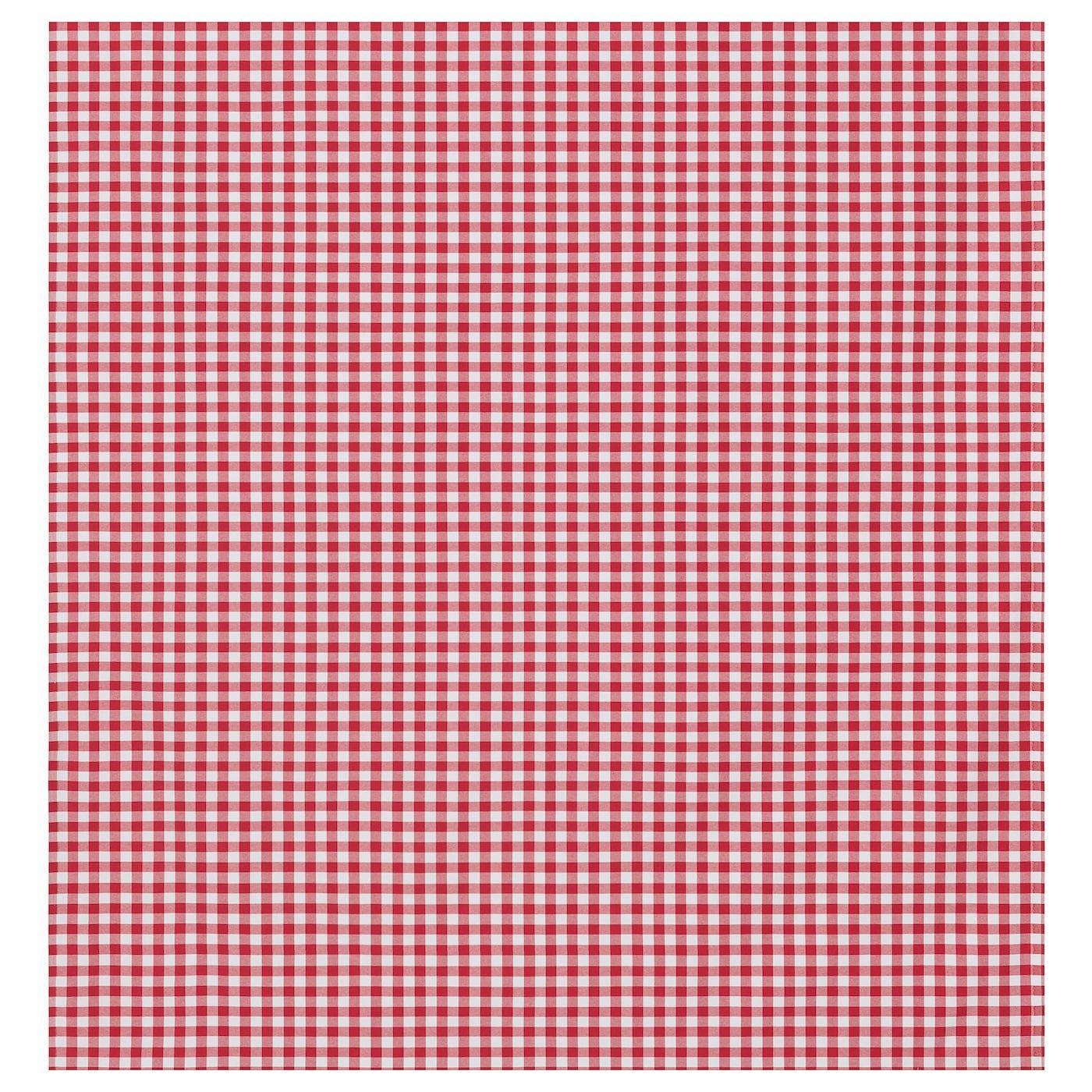 Berta Ruta Medium Check Red White Big Check Red Fabric Ikea Meterware Ikea Rot