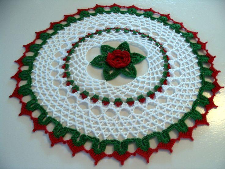 Patrones gratis de ganchillo tapetito de Navidad | Navidad tapete ...