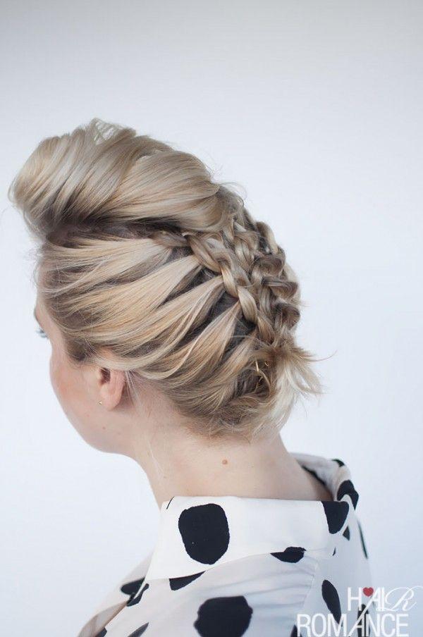 Hair Romance - Braids for short hair - short hairstyle tutorial ...