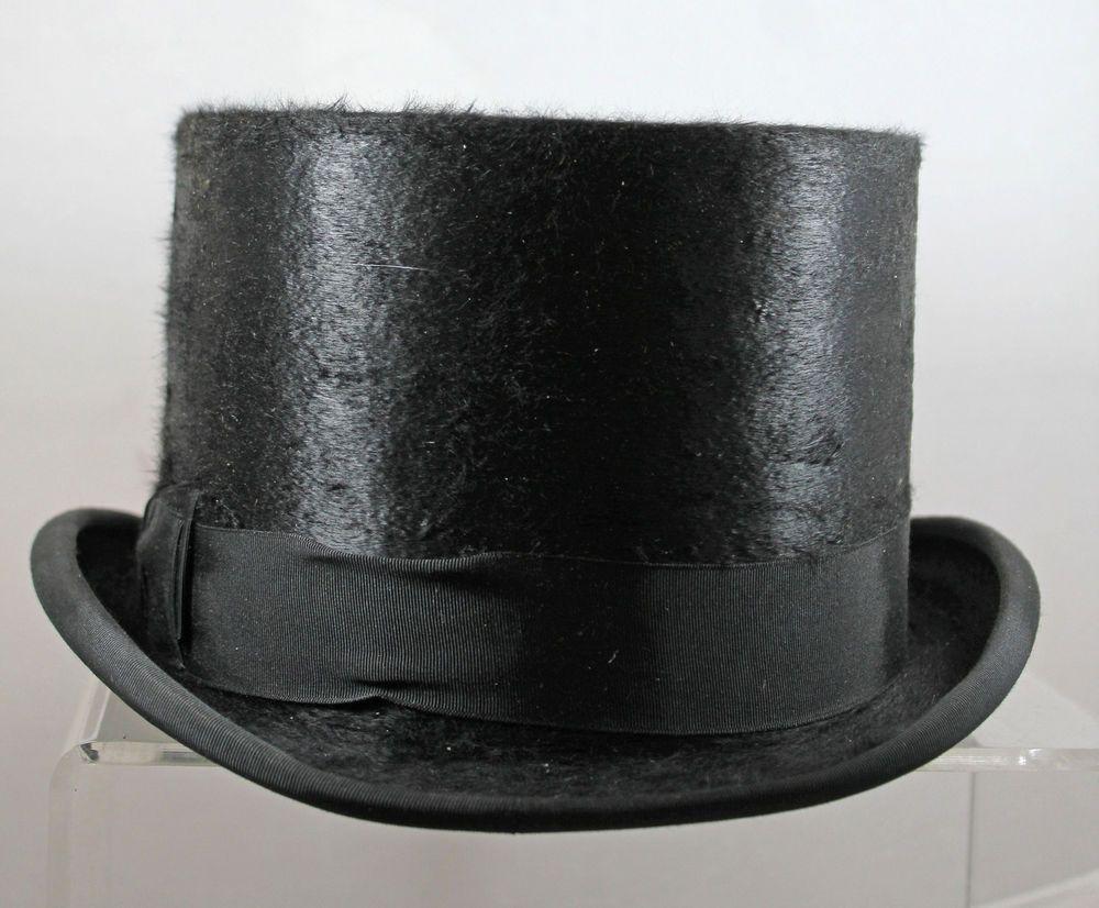 Vintage Man s Black Silk Plush