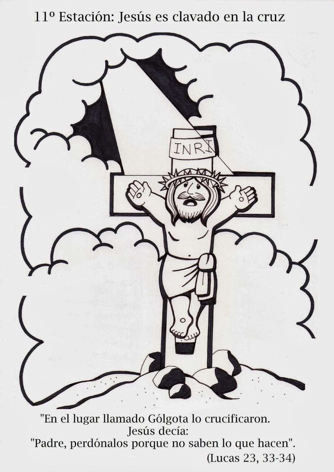 SGBlogosfera. Amigos de Jesús   Via Crucis para colorear   Pinterest ...