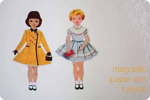 Magnetic paper doll tutorial by alli_lucy, via Flickr
