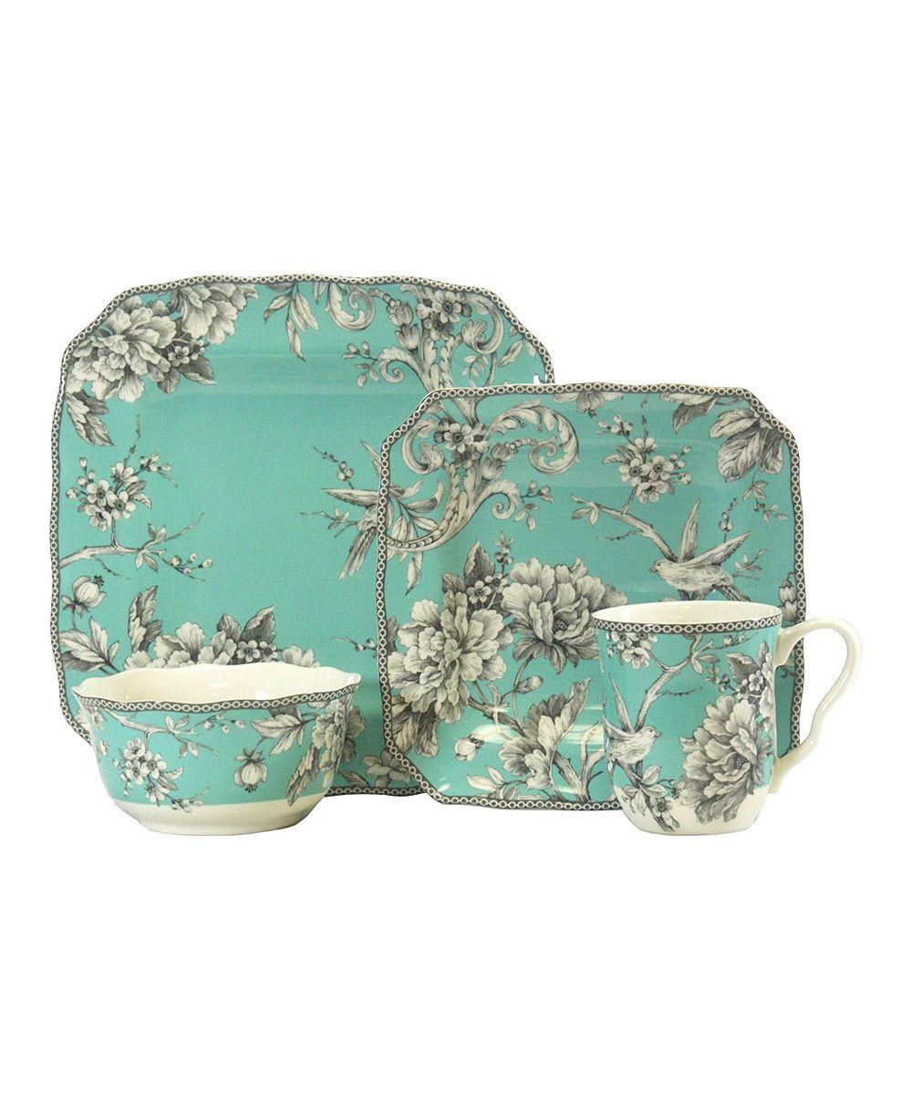 Turquoise Adelaide Dinnerware Set  sc 1 st  Pinterest & Turquoise Adelaide Dinnerware Set | For in the kitchen - tableware ...