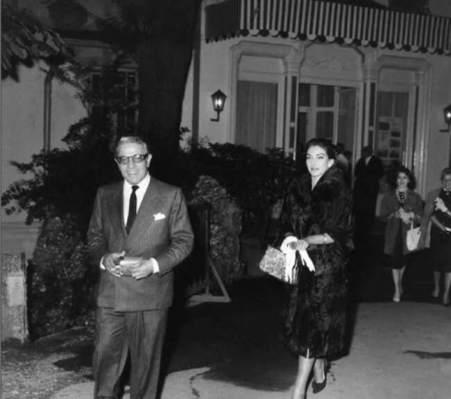 Maria Callas con Aristotele Onassis
