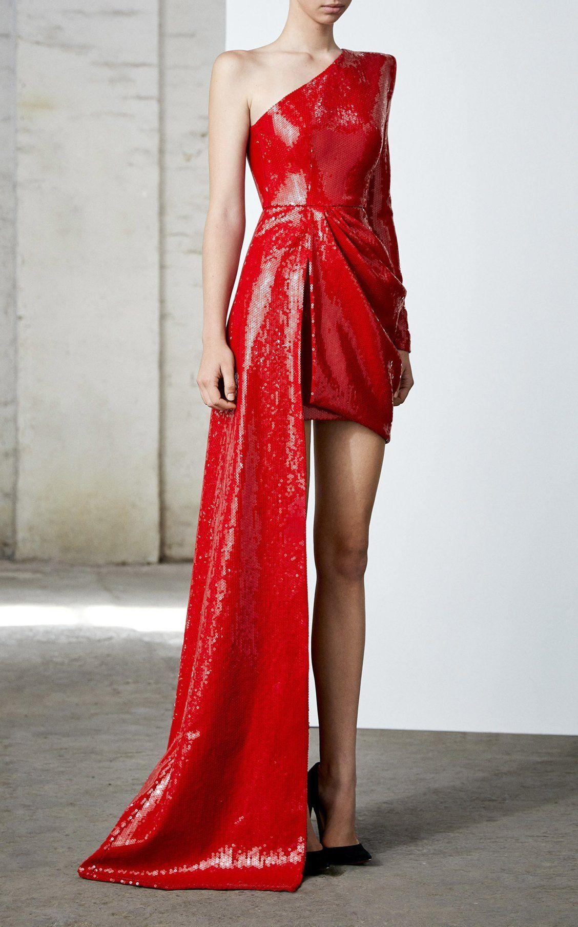 2170bd23 Preston Sequined One-Shoulder Asymmetrical Dress by Alex Perry FW19 | Moda  Operandi