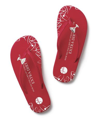 1313247b6 This Red Martini Flat Flip-Flop by Girl Two Doors Down is perfect!   zulilyfinds