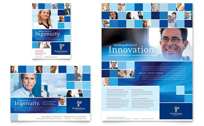Technology Consulting and IT Flyer and Ad Template Design by ...