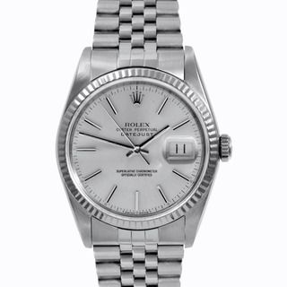 pre owned rolex mens stainless steel datejust silver stick dial pre owned rolex mens stainless steel datejust silver stick dial watch