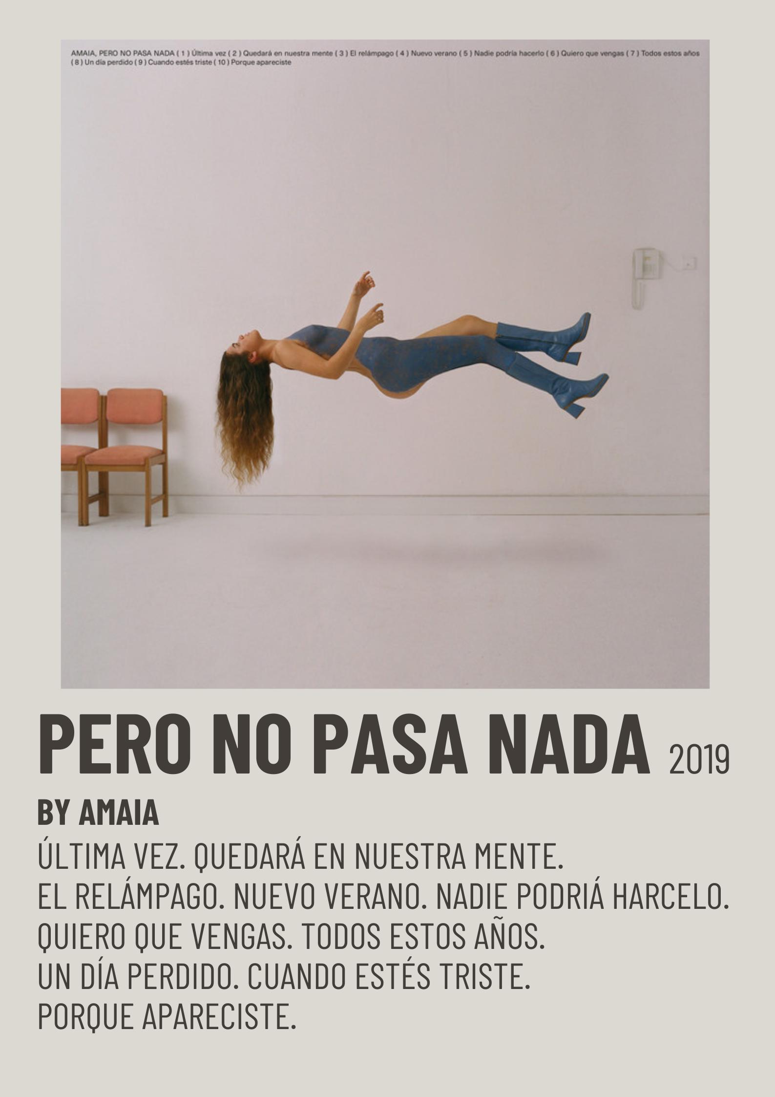 Minimalist Music Poster Paso A Paso Relampagos