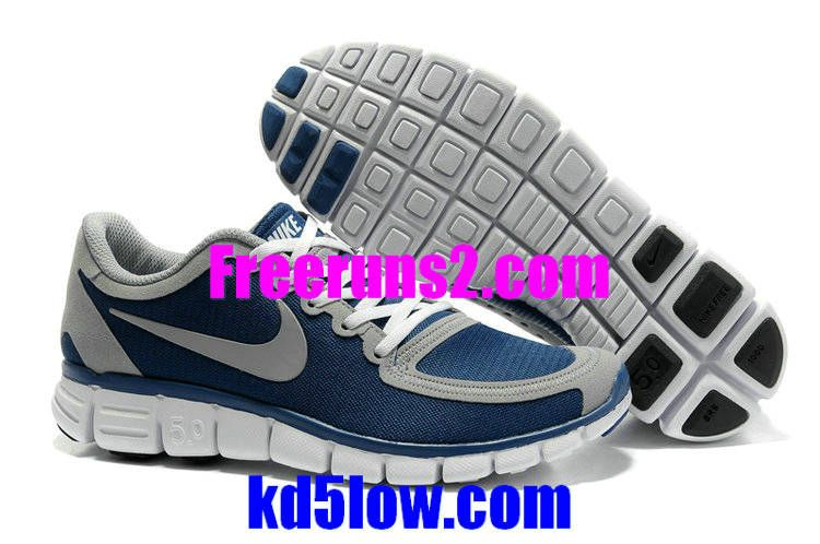 Nike Free 5.0 V4 Mens Blue Grey 511282 401 New Nike Free 5.0