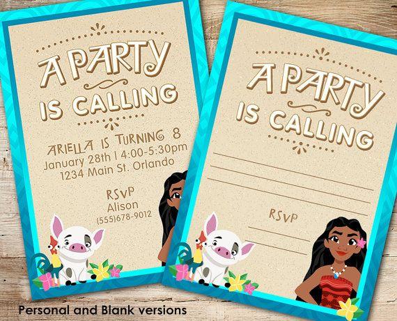 Moana Inspired Party Invite