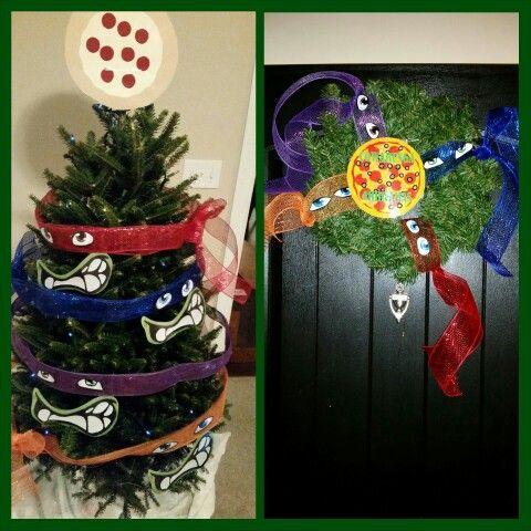 Ninja Turtle Christmas Tree.Ninja Turtle Christmas Tree Wreath Ninja Turtles