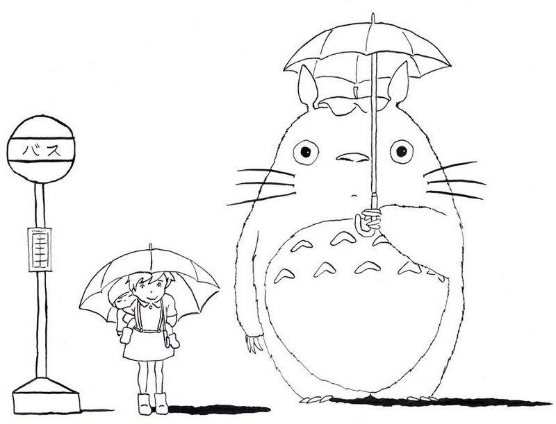 My Neighbor Totoro Tonari No Totoro Coloring Picture Totoro Drawing Totoro Art Totoro