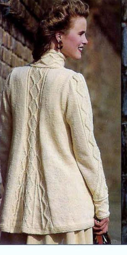 Ladies Lovely Cable Swing style Jacket- Knitting pattern- DK- chest ...